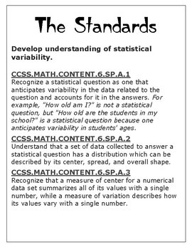 Statistics and Probability: 6.SP.1-5 Bundle