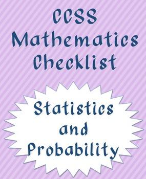 Statistics and Probability CCSS checklist (quarters)