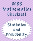 Statistics and Probability CCSS checklist (trimesters)