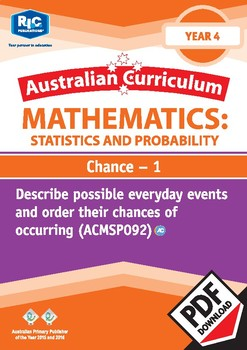 Statistics and Probability: Chance 1 – Year 4