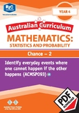 Statistics and Probability: Chance 2 – Year 4