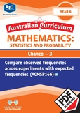 Statistics and Probability: Chance 3 – Year 6
