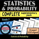 Statistics and Probability Worksheets and Word Wall