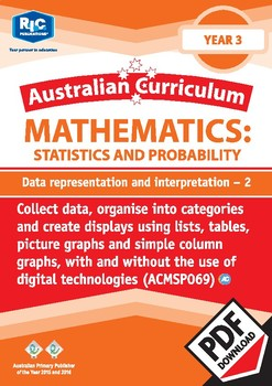 Statistics and Probability: Data representation and interpretation 2 – Year 3
