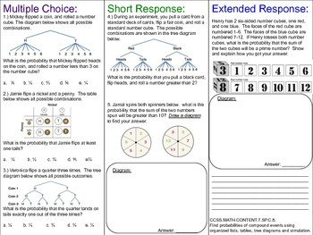 Statistics and Probability Differentiated Resource ~ 7th Grade Math