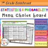 7th Grade Statistics and Probability Choice Board – Enrichment Math Menu