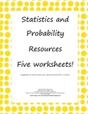 Statistics and Probability: Homework/Review: Common Core Aligned