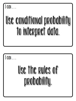 Statistics and Probability - I CAN Statements . Mini Posters