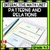 Patterns and Relations Interactive Notebook Grades 4-5