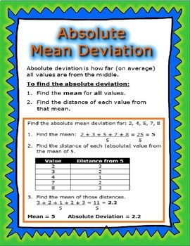 Statistics and Probability Posters: 6.SP.1-5
