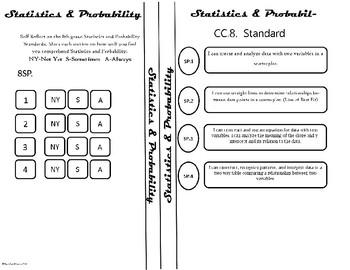 Statistics and Probability Standard Reflection Sheet