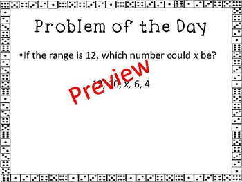 Statistics and Probability Warm Ups