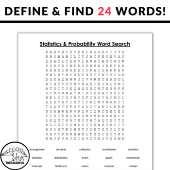 Statistics and Probability Word Search