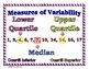 Statistics and Probability Word Wall with Example & Spanis