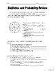 Statistics and Probability review