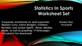 Statistics in Sports Worksheet Set (Stephen Curry, Aaron R