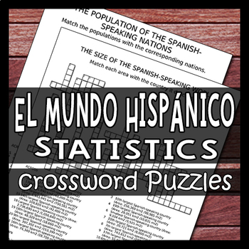 Statistics of the Spanish Speaking World - Culture Crossword Puzzle Worksheets