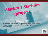 Statistics (project) Algebra 1 to Algebra 2