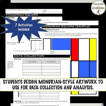 Statistics with Mondrian Project based learning with EDITABLE Rubric