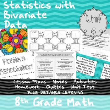Statistics with Bivariate Data-(8th Grade Math TEKS 8.5C-D, 8.5I, & 8.11A)