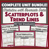Statistics with Bivariate Data UNIT 6 BUNDLE: Scatterplots