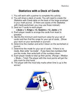 Statistics with Cards