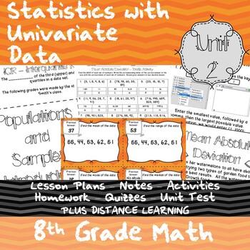 Statistics with Univariate Data - (8th Grade Math TEKS 8.11B & 8.11C)