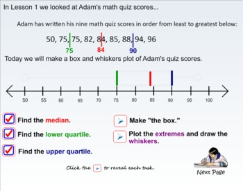 Stats - Lesson 3 Interpreting Box and Whisker Plots