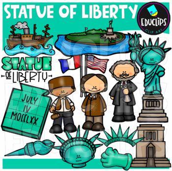 Statue Of Liberty Clip Art Bundle {Educlips Clipart}