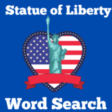 Statue of Liberty Activity | Statue of Liberty Worksheet | Word Search