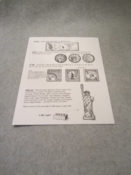 Statue of Liberty 3 Pages of Fun Educational Facts