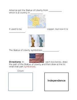 Statue of Liberty Activity Packet