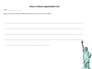 Statue of Liberty Appreciation Card