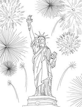 Statue of Liberty Coloring Sheet