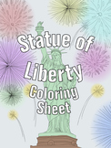Statue of Liberty Coloring Sheet