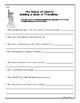 Statue of Liberty Nonfiction Comprehension Pack