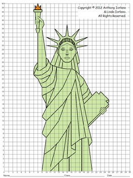Statue of Liberty (Coordinate Graphing)