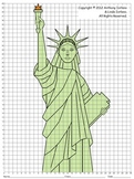 Statue of Liberty (Coordinate Graphing with Fractions)