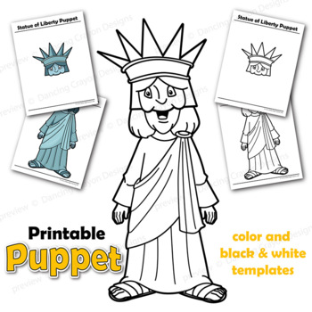 It is a photo of Printable Statue of Liberty Template for drawing