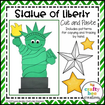statue of liberty craft statue of liberty craft by crafty bee creations tpt 5492