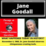 Jane Goodall Differentiated Reading Passage November 4