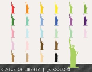 Statue of Liberty Digital Clipart, Statue of Liberty Graphics