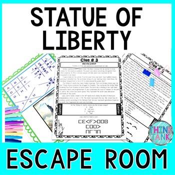 Statue of Liberty ESCAPE ROOM: Ellis Island, Immigration, 4th of July - NO PREP!