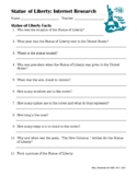Statue of Liberty FAQS: Internet Research