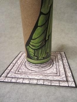 Statue of Liberty. Fun Paper Tube Craft Art