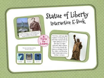 Statue of Liberty Interactive E-Book for Smartboard