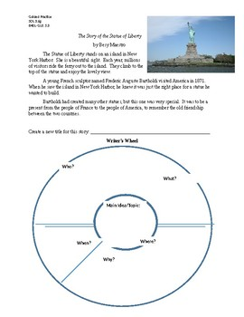 Statue of Liberty Main Idea Guided Practice