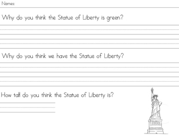 Statue of Liberty Opinion Questions