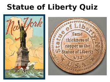 Statue of Liberty Quiz and Review - American Symbols Unit