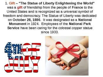 Statue of Liberty Quiz and Review - American Symbols Unit